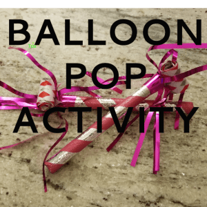 New Years Balloon Pop Activity for kids, pop the balloon and do the activity inside. Lots of fun for kids at a party! #newyearseve #games #kidsgames #diygames www.pinterest.com/notquitesupermommn www.notquitesupermom.com