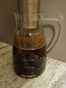 DIY Cold Brew Coffee, coffee is best brewed cold, cold brew coffee recipe, cold brew coffee lover www.notquitesupermom.com www.pinterest.com/notquitesupermommn @notquitesupermn