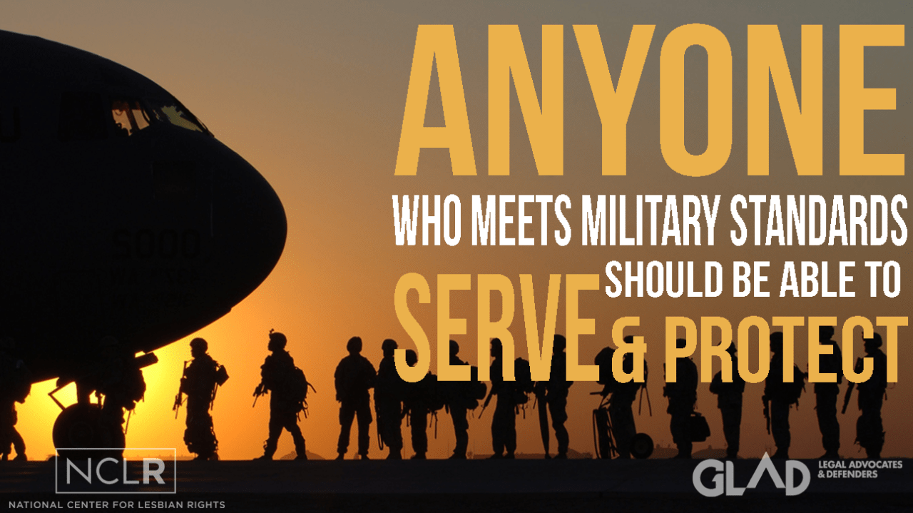 Anyone Who Meets Military Standards Should Be Able To Serve