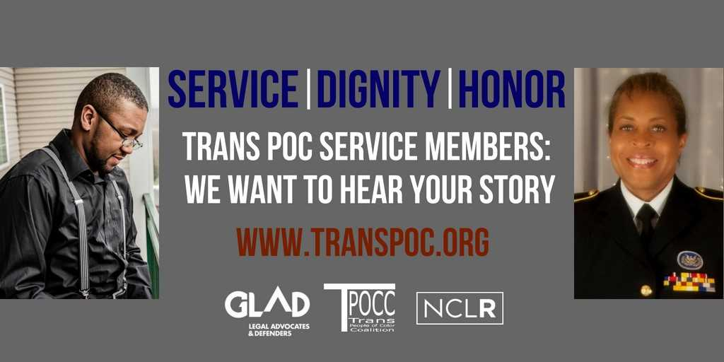 Trans POC Service Members: We Want to Hear Your Story