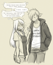Chance wears an embarrassing shirt in front of Abigail