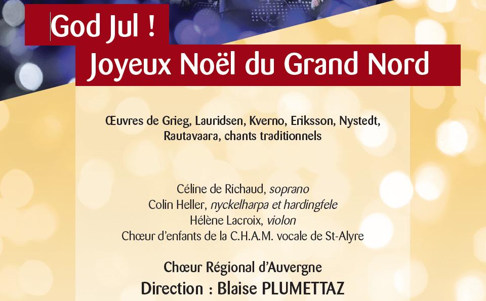 Concert « God Jul ! Joyeux Noël du Grand Nord » le 15 décembre à 20h30 à Saint-Genès-les-Carmes