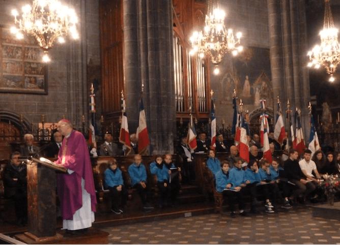 Messe du 10 novembre 2017 pour la paix et les morts de toutes les guerres