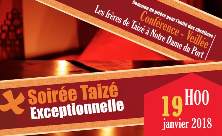 Conférence-Veillée avec les Frères de Taizé à Notre-Dame du Port le 19 janvier à partir de 19h