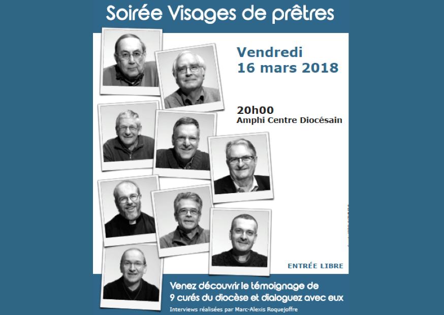 Soirée Visages de prêtres au CDP le vendredi 16 mars 2018