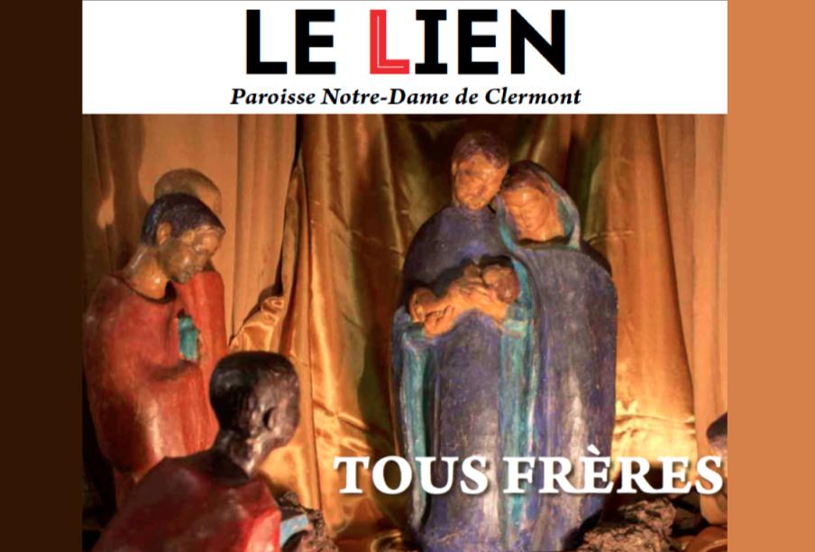 « Tous frères » : LE LIEN de décembre 2020 [journal trimestriel de Notre-Dame de Clermont] est disponible
