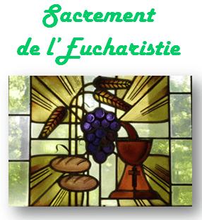 Sacrement de l'Eucharistie et Première communion