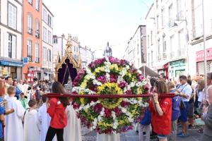 Roue de fleurs lors de la St Amable 2017