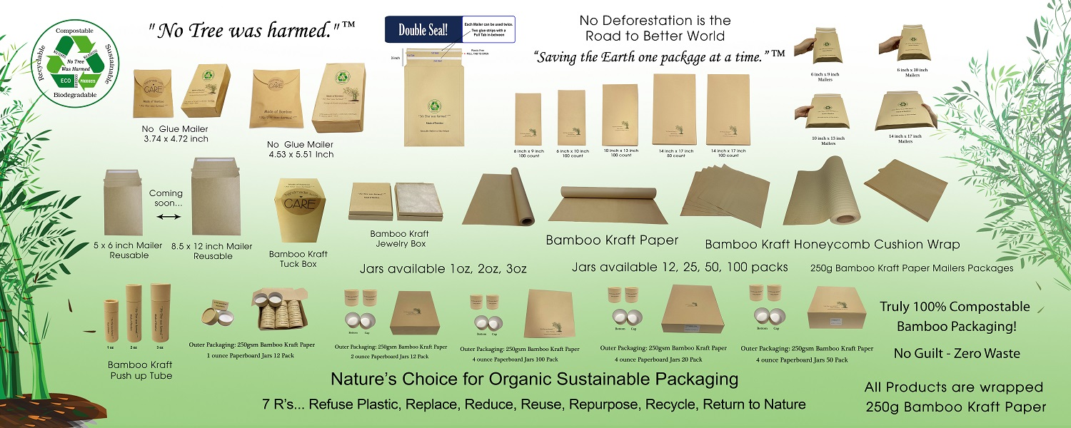 Bamboo is Nature's Choice for Sustainable Packaging. Make your products stand out, grow market share, increase revenue by promoting brand awareness.