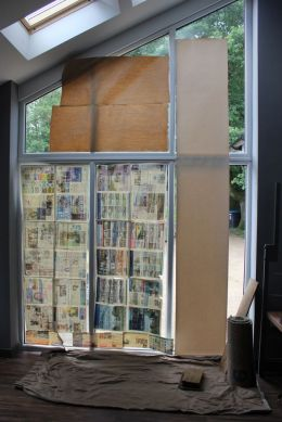 gable vertical blinds