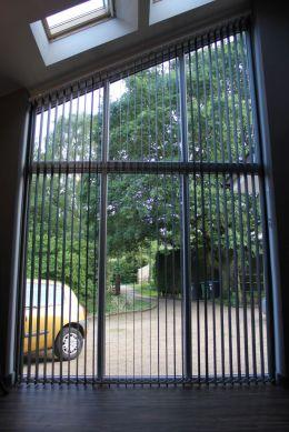 Gable vertical blinds grey