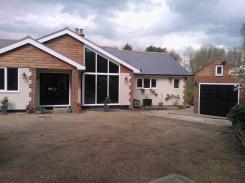 bungalow with new garage door