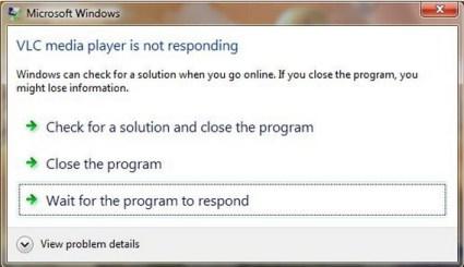 Windows Media Player Not Responding