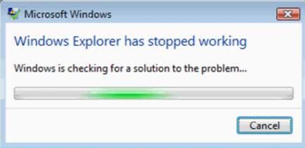 Windows Explorer not responding