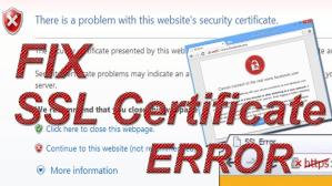 Chrome Certificate error