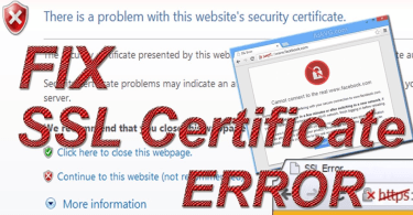 how to solve certificate error in google chrome
