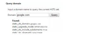 HSTS Chrome error