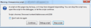 script error of Chrome
