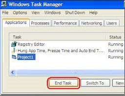 Computer not responding fix by task manager