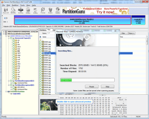 PartitionGuru file recovery process