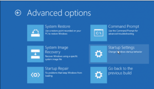 Startup Settings Windows 10 safe mde