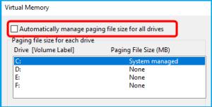 100 percent disk usage windows 10