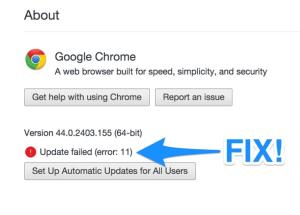 Chrome update error featured image