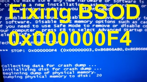 0x000000f4 BSOD Error- How to Fix Windows BSOD Error First of all, you are not the only Windows user who is facing the 0x000000f4 BSOD Error error. This is a blue screen of death error in Windows computer and many users have already faced it. And for you, I have come here with a few possible resolves. But before performing the resolution steps, I want you to know what causes this error to appear.  Reasons for 0x000000f4 BSOD Error Before we perform the solution process, here are some common reasons why you are facing the problem, mind to check them out? Due to the corrupted or incorrect installation of your OS system, you might face this BSOD error Outdated or damaged driver software can also be the reason for this problem Corrupted or malfunctioned hard drive can also be the problem Viruses attack can also be the reason Due to low memory storage, a corrupted software file or a particular game or software program can lead to this issue. How to Resolve 0x000000f4 BSOD Error- Update the Drivers If the driver software is not updated, it can cause many problems. If you have recently updated the drivers and still facing the problem, you can follow the steps below-  From Windows Device Manager First, press Windows logo key and R together to open the Run box Enter 'devmgmt.msc' in the empty box In a new window, you can find the list of drivers installed in your PC You then can choose from the drivers and then right-click on it and select Update Driver Software You have to choose one from the two options below- Search automatically for updated driver software Browse my computer for driver software The first option will search for the compatible drivers online and will start updating them automatically The second option wants you to have the driver software in your computer's hard drive  Update Manually In case you are having a problem in updating the drivers from device manager, you can do it manually, it is may be difficult, but here is the procedure- First, visit your PC's manufacturer website Here you will have to find the driver download center and from there, find the latest driver software for your computer Some systems automatically detect your device model  Here you have to select the driver software you need to update Finally, download the installation packages and install them Check Compatibility-Hardware & Software The 0x000000f4 BSOD Error arises when the software and hardware are not compatible with the OS. Check the hardware compatibility from the below steps- Unplug all the hardware devices except for the Keyboard and Mouse Restart your computer and check if the problem solves This method will help you figure out the particular hardware which is causing the problem  For checking software compatibility- Firstly, open Control Panel Then you have to select view by Small icons and Click System Next click on System Protection Select System Restore and click Next Choose a Restore Point and then you have to click Next Then click Finish Select Yes and restart your PC  These methods will help you overcoming the 0x000000f4 BSOD Error on Windows, in case you are unable to resolve this issue, drop a comment below.