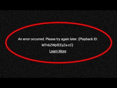 playback id error youtube pc