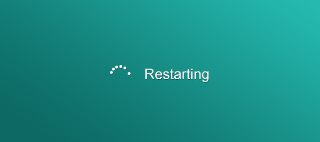 Restart computer to fix Chrome update error