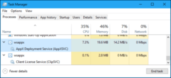 WSAPPX High CPU Use Error