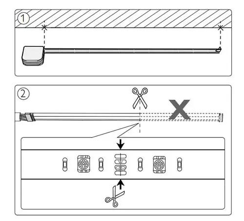Philips Hue light strip plus installation cut light strip