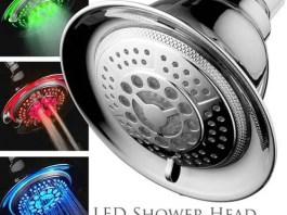 LED light up shower head