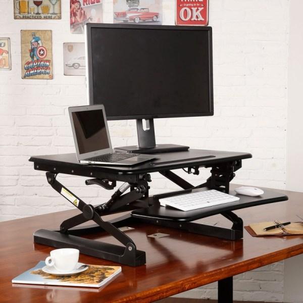 FlexiSpot M1B/M1W Height Adjustable Sit-stand Desktop Workstation