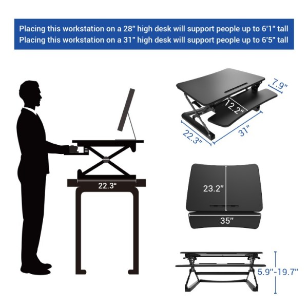 FlexiSpot M2B - Height Adjustments