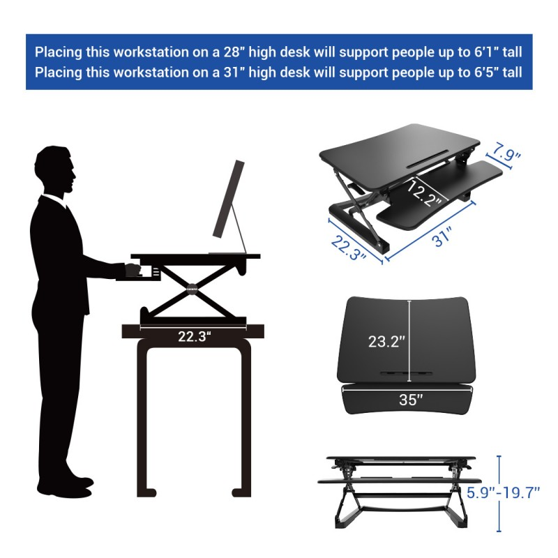 Flexispot 35 M2 Adjustable Sit Stand Desk Notsitting Com