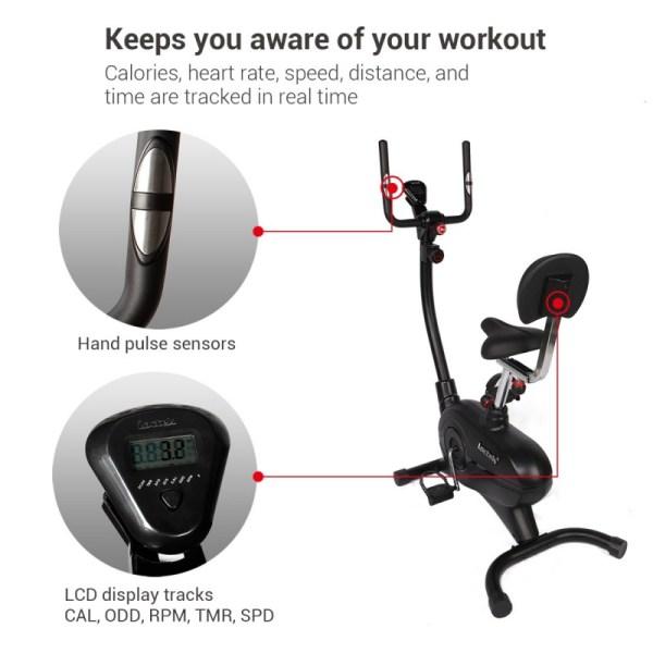 Loctek UF4M Fitness Magnetic Laptop Bike - Smart Activity Tracking