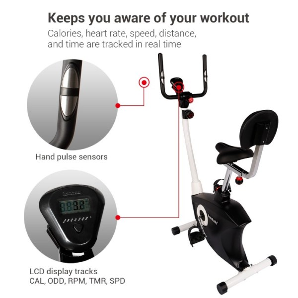 Loctek UF6M Fitness Magnetic Laptop Bike - Smart Workout Tracking