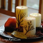 How to Make a Painted Candle Centerpiece for Thanksgiving! #GlueNGlitter