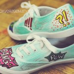 How To Make Comic Book Themed Shoes with Elmer's Painters Paint Markers #ExpressYourself