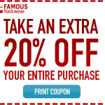 Famous Footwear Printable Coupon!