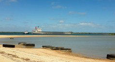 Weipa harbour- Bauxite going to Gladstone.