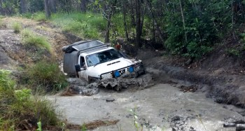 Winching out of the mud!