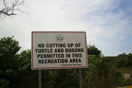 Sign on Horn Island