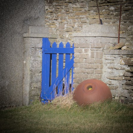 A blue gate at How