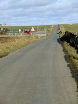 The road past the school and on towards the Airfield