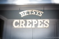Betsy's Crepes sign in Southern Pines Not So SAHM