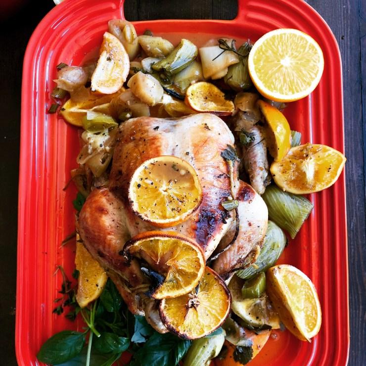 Orange honey garlic chicken