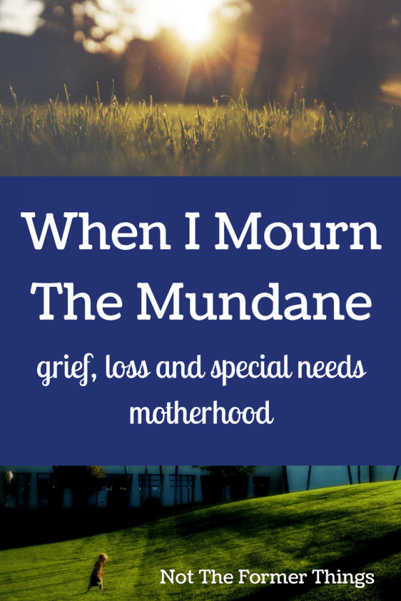 When I Mourn The Mundane: Grief, Loss and Special Needs Motherhood