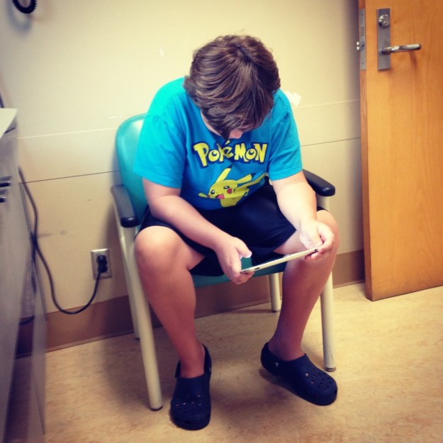 Waiting for the doctor.